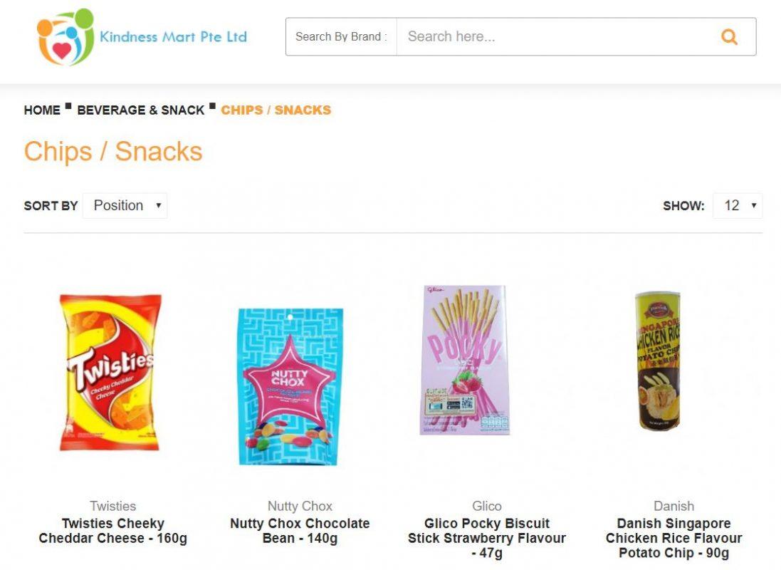 Kindness Mart item selection