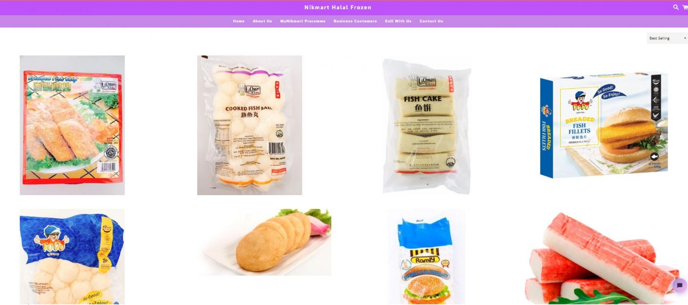 Nikmart Halal Frozen item selection