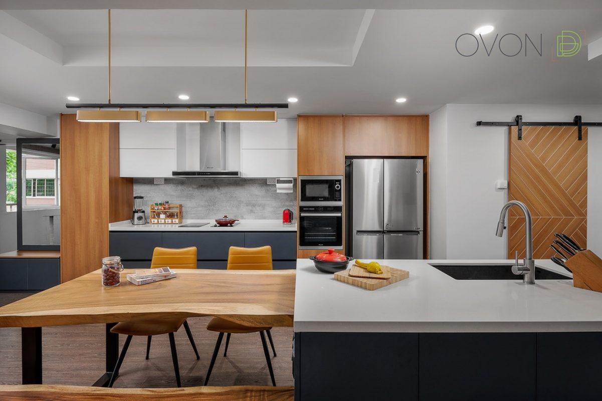 Open loving room/kitchen concept