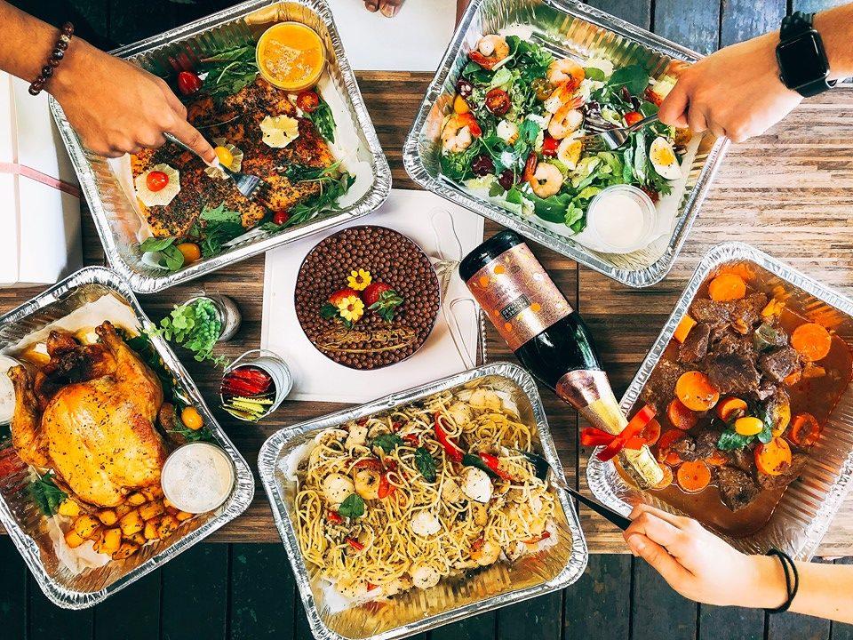 Jiak Western Lah buffet food