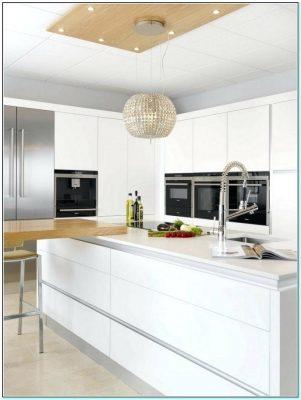 White minimalist kitchen island