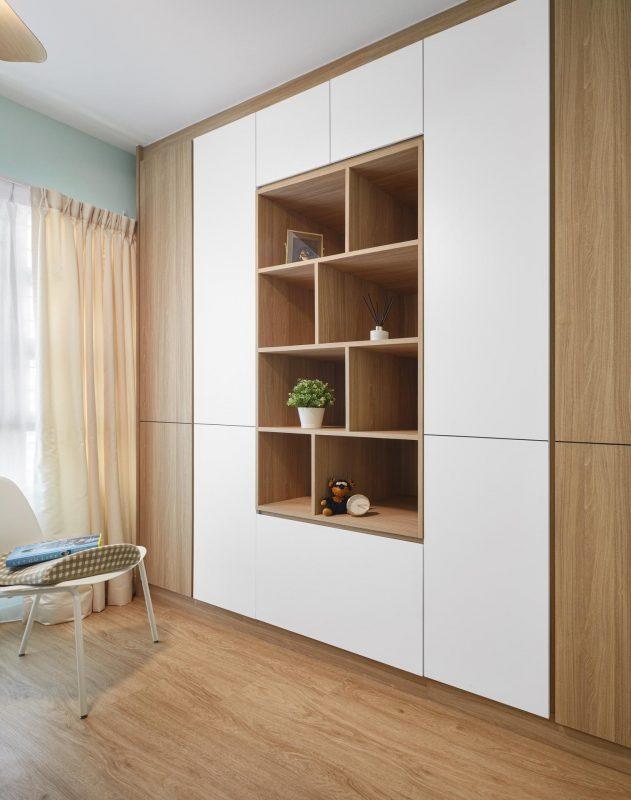 Oak brown built-in custom cabinet