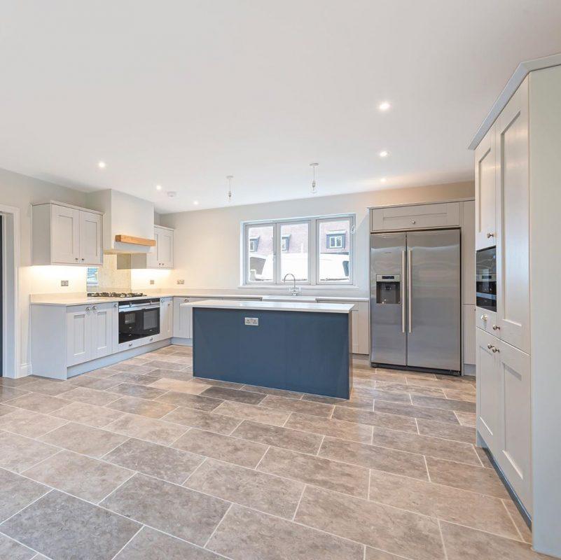 Kitchen with Stone Flooring