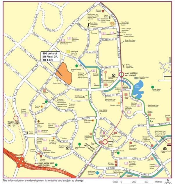 Bukit batok Map