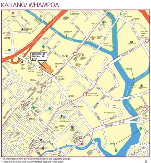 Kallang or whampoa map