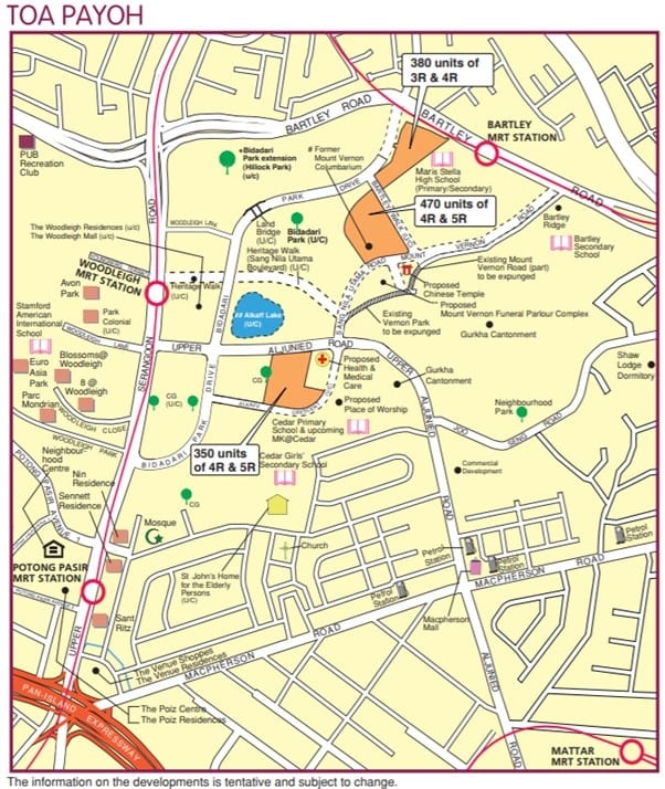 TOA PAYOH map