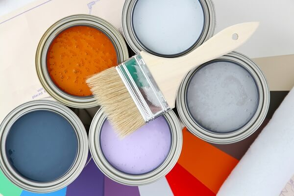 Image of different coloured paint