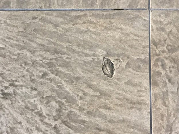 cracked or chipped tile