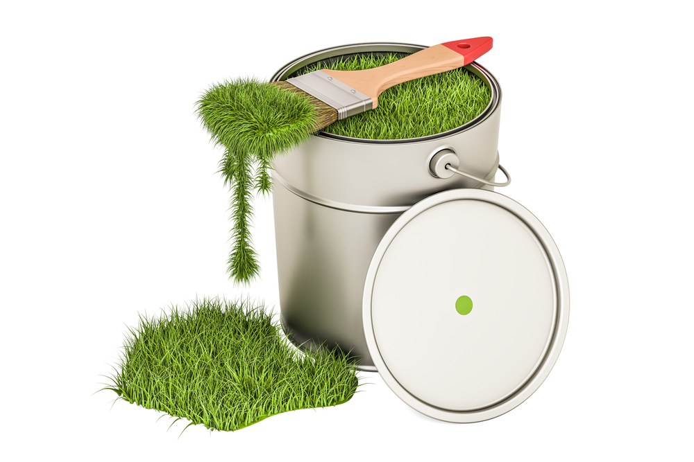 Image of grass as paint