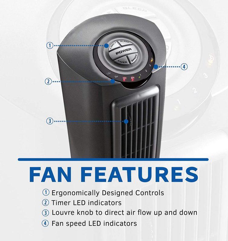Lasko Space-saving Fan Features