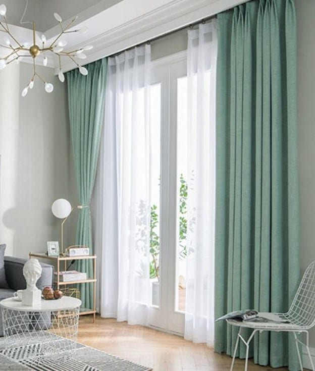 two layers of curtain