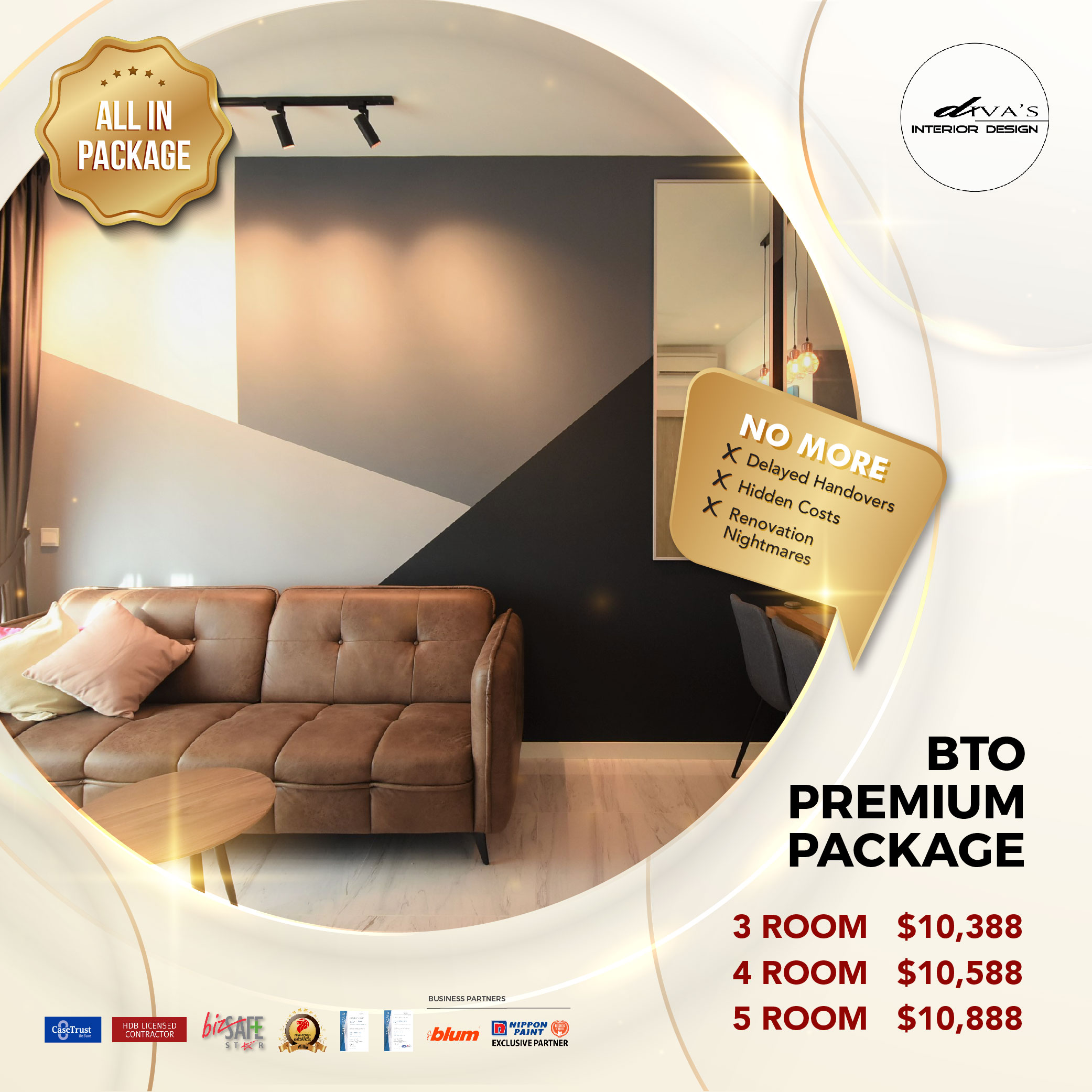 All in package by Diva's Interior Design