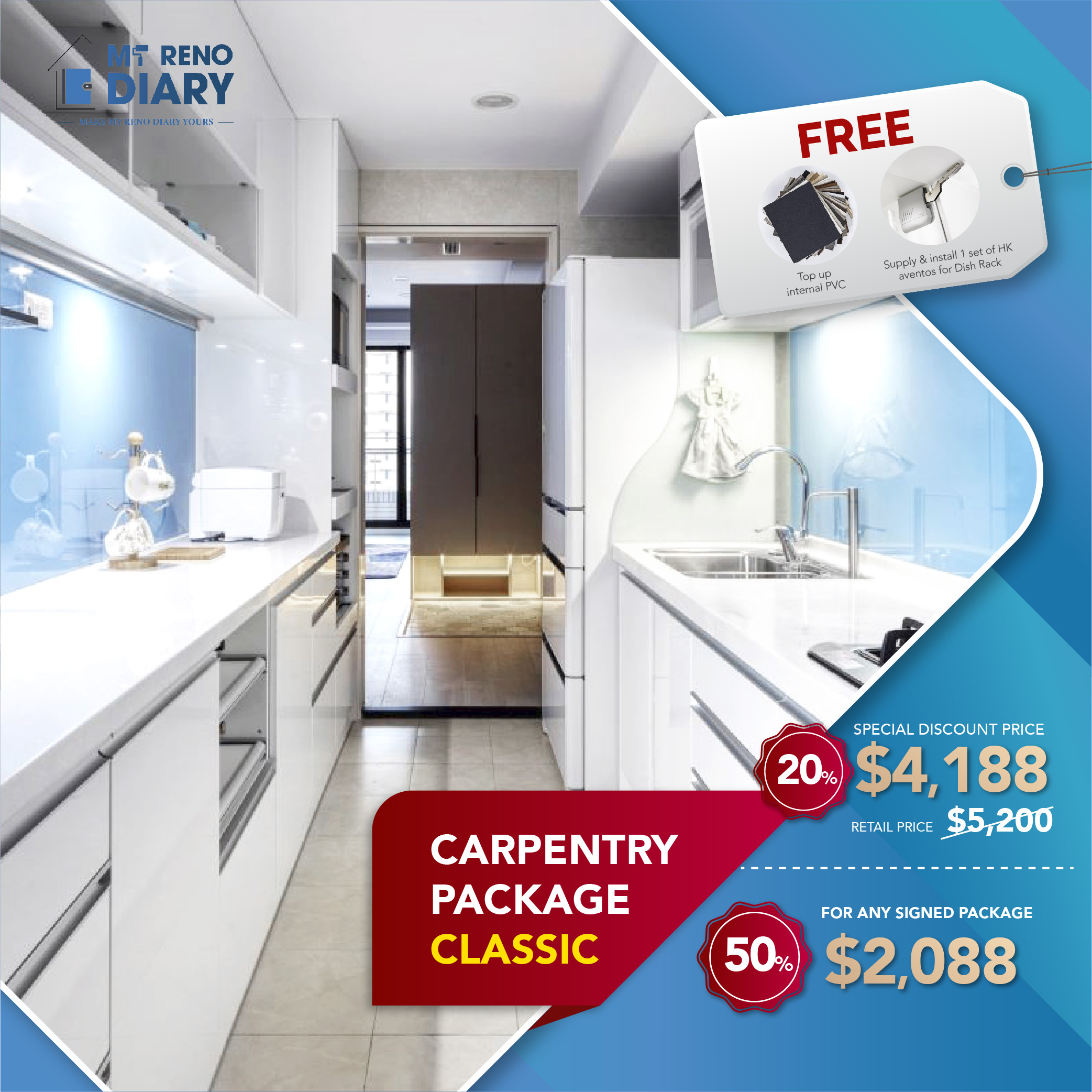 Special Discount  for Carpentry Package by My Reno Diary